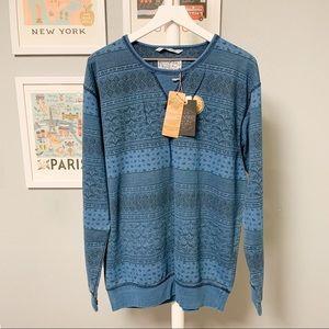 Cotton On Indigo Dyed Pattern Sweatshirt XXL